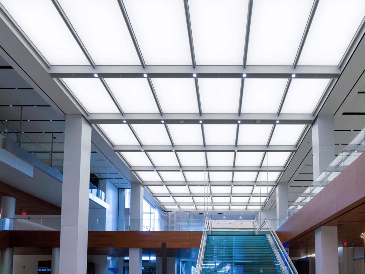 PIXEL Acoustic Panels   Photo © Harry Vitebski   Image is Property of Apogee Lighting Holdings