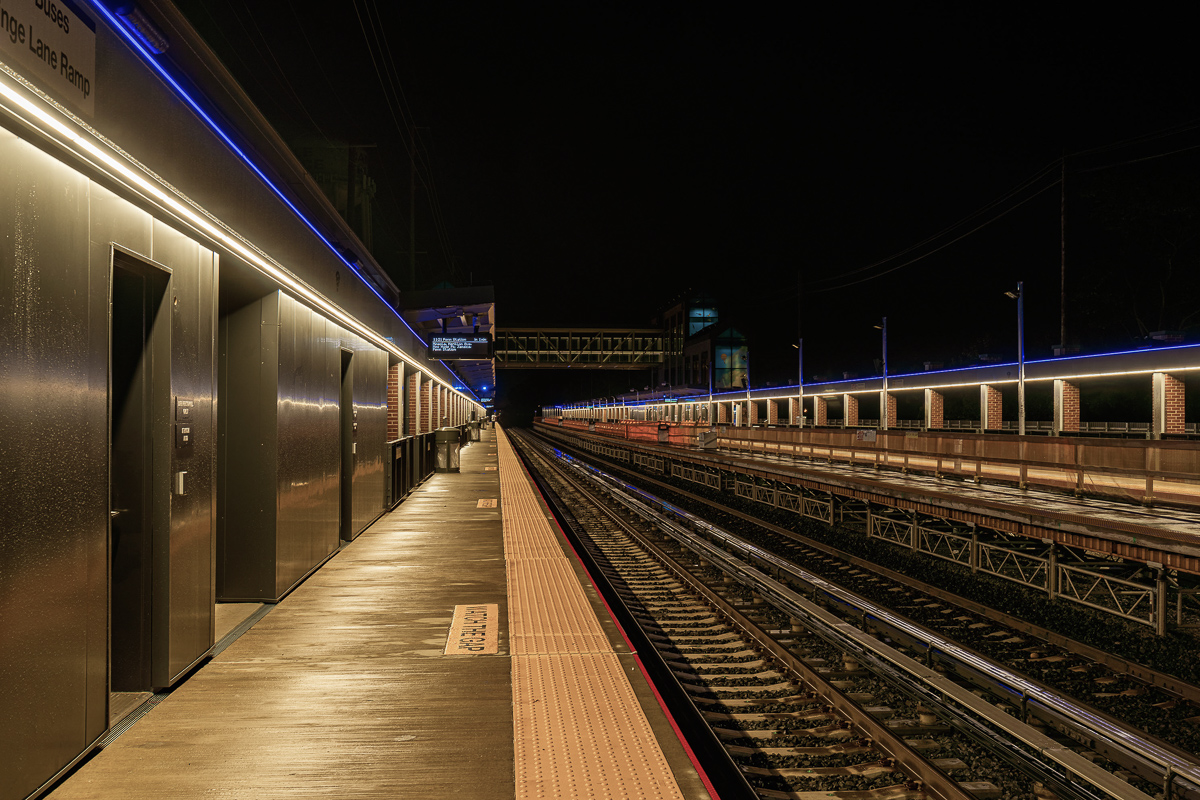 Carle Place LIRR Station   Photo © Harry Vitebski   Image is Property of Apogee Lighting Holdings