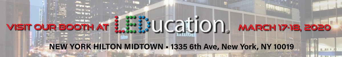 Announcement of Apogee Lighting particiaprion at LEDucation Trade Show