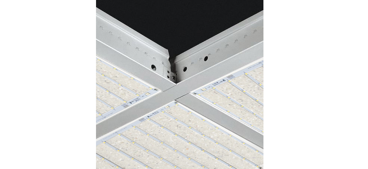 Easy Installation Ceiling Grid System made by Apogee Lighting